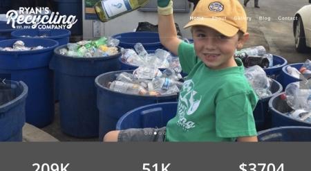 Bé 7 tuổi làm chủ doanh nghiệp tái chế rác