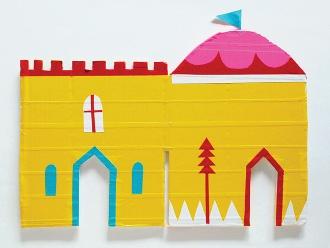 Làm tường thành từ giấy - Đồ chơi mầm non